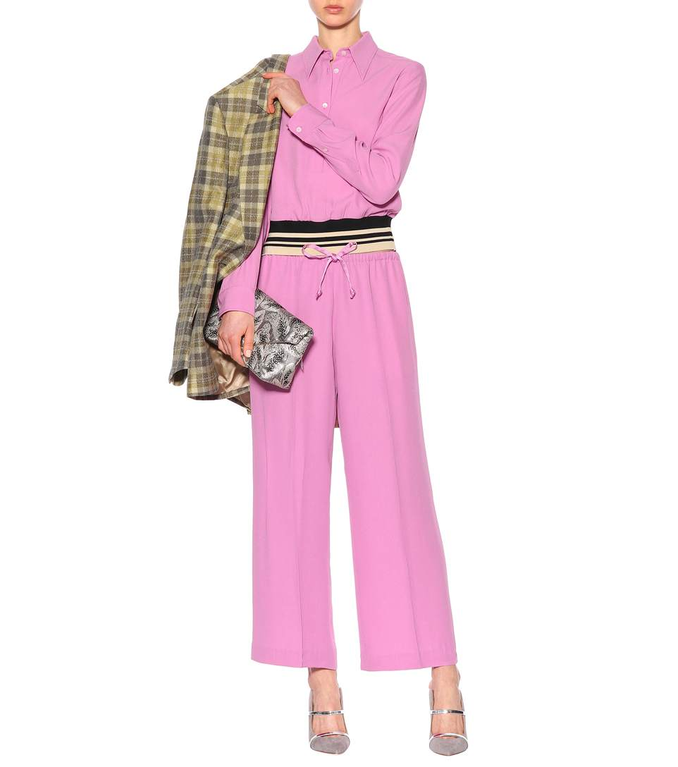dries van noten pantaloni rosa