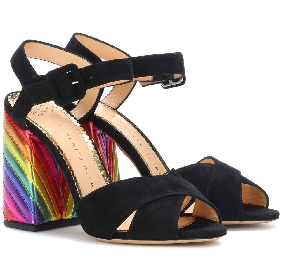 Charlotte Olympia sandali con tacco