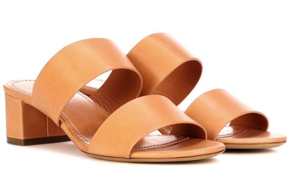 Mansur Gavriel sandali con tacco quadrato